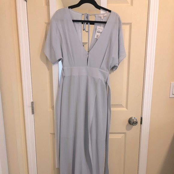 Baby Blue Dress - long with slit